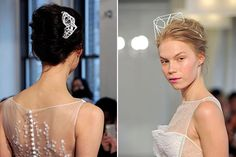 Structural fascinators/tiaras for the geometric look
