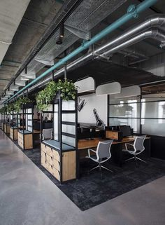office interior design photos interior design companies of… – home office design layout Corporate Office Design, Open Office Design, Industrial Office Design, Office Interior Design, Office Interiors, Office Designs, Office Ceiling Design, Industrial Workspace, Corporate Offices