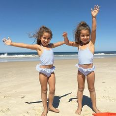 Camping beachside with our Chico babies ❤️ Cute Twins, Cute Girls, Cute Babies, Little Girl Bikini, Bikini Girls, Chico Baby, Little Girl Models, Twin Outfits, Girls Bathing Suits