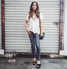 When in doubt, get that white blouse out. @shoptobi • Photo: @vudatninja