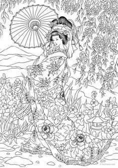 Japanese Coloring Pages japanese woman printable adult coloring page from Japanese Coloring Pages. Here is Japanese Coloring Pages for you. Japanese Coloring Pages japanese coloring books for adults coloring books adult. Adult Coloring Book Pages, Printable Adult Coloring Pages, Free Coloring Pages, Coloring Sheets, Coloring Books, Kids Coloring, Japanese Embroidery, Japanese Art, Japanese Culture