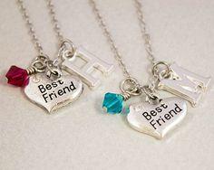 Two Best Friends Necklaces  Best Friend by CharmedByTwentySix7, $25.00