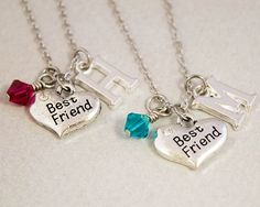 Two Best Friends Necklaces Best Friend by CharmedByTwentySix7, $25.00