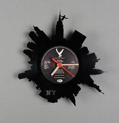 cached-1 // vinyl record clocks