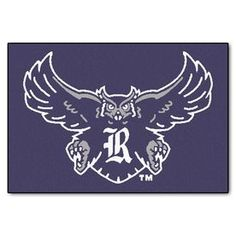 Fanmats Rice University Rectangular Indoor Machine-Made Sports Throw Rug (Common: 1-1/2 X 2-1/2; Actual: 1.583-Ft W X 2.