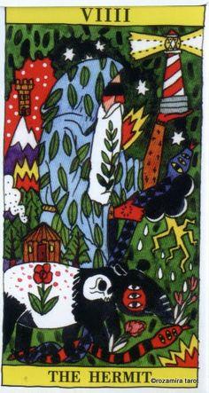 IX. The Hermit - Tarot del Fuego by Ricardo Cavolo