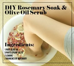 Pamper your toes with rosemary and olive oil. | 21 Foot Care Tricks To Treat Your Tired And Sore Feet