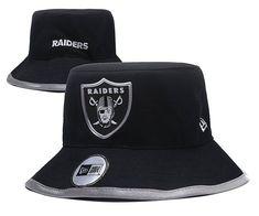 f3241946dd6 Oakland Raiders NFL Bucket Hats Black