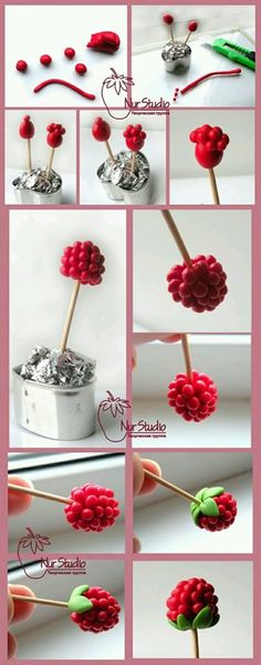 Marzipan raspberry