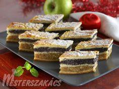 Karácsonyi almás-mákos sütemény recept elkészítése - 1. A tésztához a lisztet 35 dkg margarinnal elmorzsoljuk, megsózzuk, a cukorral, az összemorzs...