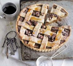 Spiced and glowing gold, this pie is pure autumn on a plate. Use butternut squash or your Halloween pumpkin, from BBC Good Food magazine. Bbc Good Food Recipes, Pie Recipes, Sweet Recipes, Delicious Desserts, Yummy Food, Hot Desserts, Maple Pecan, Best Pumpkin, Sweet Pie