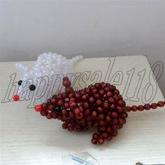 Beaded Cute Mounse 2PCS Car Home Office Decor Non-native American beadwork