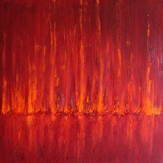 "Saatchi Online Artist: Shoa Malik; Oil, Painting ""Forest Fire (Series of 3)"""