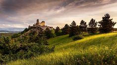 Sunrise at Bathory castle by Ľuboš Balažovič on Medieval Castle, Monument Valley, Sunrise, Explore, Nature, Travel, Facebook, Beautiful, Instagram