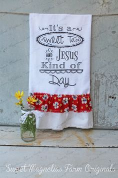 Flour Sack Kitchen Towel... Farmhouse Style by SweetMagnoliasFarm, $18.50  New Design