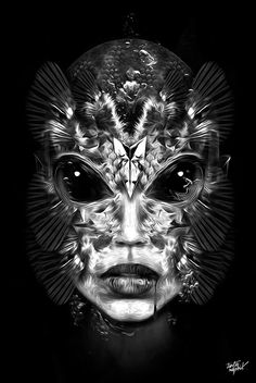 Nicolas Obery also known as Custom Shoot on his series called Fantasmagorik. Using Adobe Photoshop, he is able to draw and sculpt small totally intricate pieces together to come up with stunning artworks with a great amount of detail.