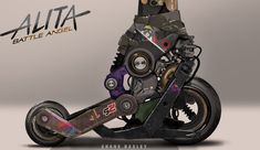 I was Rosa Salazar's personal on Check out Art of Alita: Battle Angel for more art Cyberpunk Character, Cyberpunk Art, Alita Movie, Alita Battle Angel Manga, Character Art, Character Design, Quad Skates, Arte Robot, Anime Weapons
