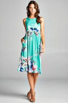 Casual Floral Midi Dress