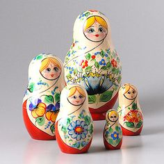 flowers nesting doll, perfect for spring/summer