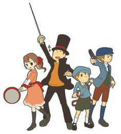 Professor Layton. Haha Flora with a panXD She'd moat likely just lecture the enemy about being a lady or gentlemanXD