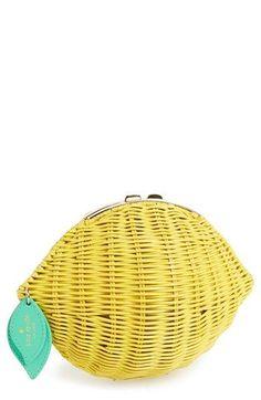 LOVE this Lemon Bag!! Kate Spade new york 'vita riva' wicker lemon crossbody bag available at #Nordstrom