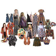 """""""Deel 7 -Inspiratiemoodboard- Trends voorjaar-zomer 2014...Wat blijft: Folklore"""" by skwadraat on Polyvore Folklore, Shoe Bag, Prints, Stuff To Buy, Bags, Shopping, Clothes, Collection, Design"""