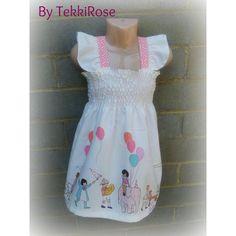$22.50 Children at Play Flutter Dress by TekkiRose on Handmade Australia - today only