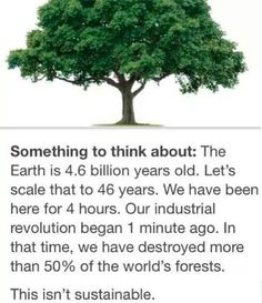 Think About Sustainability...