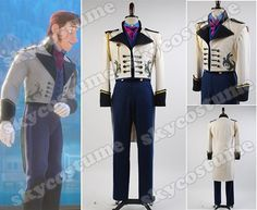 Frozen Prince Hans Tail Coat Suit Cosplay  Costume from Frozen