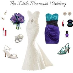 little mermaid engagement ring   fashion look from May 2012 featuring Lipsy dresses, Dyeables sandals ...