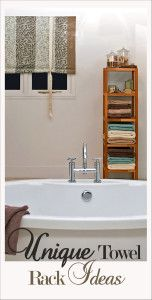 Towels are always so difficult to incorporate into the decor, here are some great ways to include them.