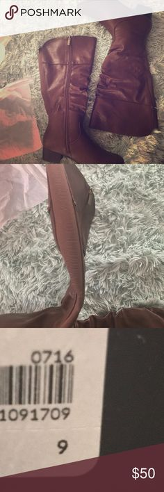"""⚡️Lane Bryant⚡️ Wide Calf Slouchy Riding Boots Brand new in box. Tried on but not worn. Full length side zip. Stretchy back as photographed. Medium width. Calf circumference 17.75"""". Short stacked heel.   PRICE FIRM. 10% off bundles of 4 or more. No trades, sorry!  Smoke free home, but have two furbabies. (dogs). Lane Bryant Shoes Winter & Rain Boots"""