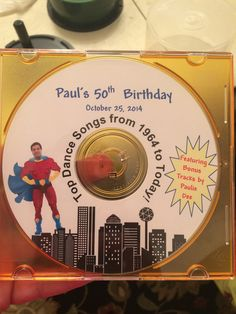Superhero Themed Party Cd Cover Designed By My Sister From Images