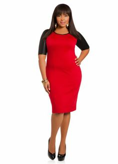 Ashley Stewart Women's Plus Size Faux Leather Sleeve Dress Red 12 Ashley Stewart,http://www.amazon.com/dp/B00HJXBIJI/ref=cm_sw_r_pi_dp_jt4btb0JAADZA7HX