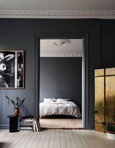 Dark bedroom colors cozy bedroom colors cozy bedroom colors dark bedroom colors posts from my unfinished Cozy Bedroom, Bedroom Decor, Trendy Bedroom, Design Bedroom, Bedroom Lighting, Modern Bedroom, Bedroom Ideas, Dark Blue Bedrooms, Dark Rooms
