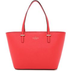 Kate Spade New York Mini Harmony Tote (865 SAR) ❤ liked on Polyvore featuring bags, handbags, tote bags, cherry liqueur, tote handbags, leather tote purse, leather tote, leather purse and red leather tote