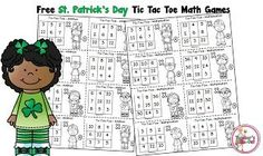 Free St. Patrick's Day Math Game from Teacher's Take-Out