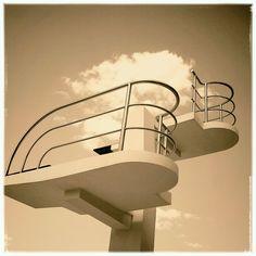 Art Deco diving board, Valencia. Photo: Sean J Vincent