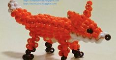 Free detailed tutorial with step by step photos on how to make a fox out of seed beads and wire in the technique of 3D beading. Great for beginners!