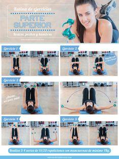 Rutina de ejercicios para la parte superior: brazos, pecho y hombros