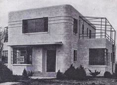 Modern in Line and Detail - J.J.P. Oud and Corbusier Style Art Moderne and Deco House Plans! Stephen Jokel and Larson & McLaren, Architects. | Art Deco Resource