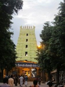 Srisailam Mallikarjuna Srisailam Temple dedicated to Lord Mallikarjuna Swamy and Devi Bhramaramba (form of Parvathi).  Srisailam is one of the 12 Jyotirlinga temples of God Shiva. Srisailam Mallikarjuna Temple is a holy place, located in Nallamala Hills of Kurnool district, Andhra Pradesh, India, on the banks of river Krishna, about 212 km from Hyderabad.  Srisailam is presumed to be one of the most antique places in India. It is on the right side of the River Krishna in Kurnool District
