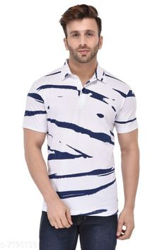 Tshirts GENT COLLAR BLUE LINE WHITE T SHIRT Fabric: Cotton Sleeve Length: Short Sleeves Pattern: Solid Multipack: 1 Sizes: S (Chest Size: 39 in Length Size: 27.5 in)  XL (Chest Size: 45 in Length Size: 29 in)  L (Chest Size: 43 in Length Size: 28.5 in)  M (Chest Size: 41 in Length Size: 28 in)  XXL (Chest Size: 47 in Length Size: 29.5 in) Country of Origin: India Sizes Available: S, M, L, XL, XXL, XXXL   Catalog Rating: ★4.2 (490)  Catalog Name: Fancy Retro Men Tshirts CatalogID_1148441 C70-SC1205 Code: 853-7195133-999