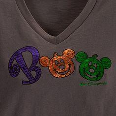 Walt Disney World ''Boo'' Halloween Mickey Mouse Tee for Women