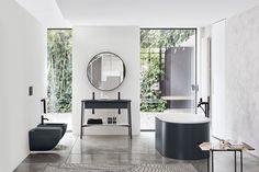 Ceramica Cielo S.A - Handmade Italian sanitary ware design Bathroom Mirror Design, Zen Bathroom, Bathroom Plants, Bathroom Interior, Modern Bathroom, Bathroom Ideas, Bathroom Showrooms, Bathroom Laundry, Beach Bathrooms