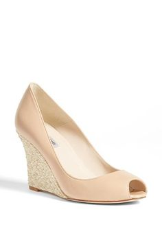 L.K. Bennett 'Estela' Peep Toe Wedge Pump available at #Nordstrom - nice style but expensive