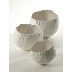 Set de 3 Vases Boule Papier