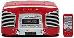 TEAC プレミアムBluetoothスピーカーシステム 2.1ch CD/ラジオ搭載 レッド SL-D930-R