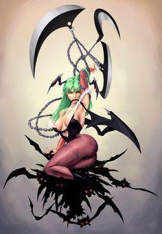 Morrigan Aensland, from Darkstalkers ~ Vampire Savior.