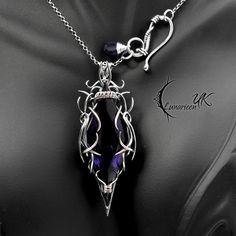 AHZANDIAL - silver, amethyst. by LUNARIEEN.deviantart.com on @DeviantArt
